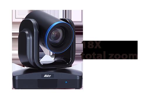 Caméra PTZ avec zoom total 18X